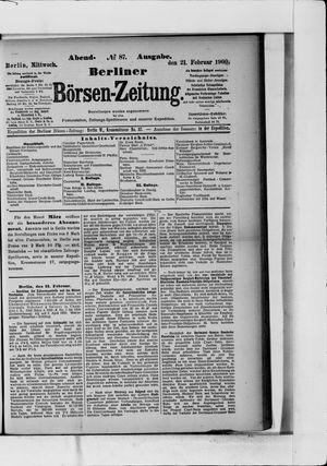 Berliner Börsen-Zeitung vom 21.02.1900