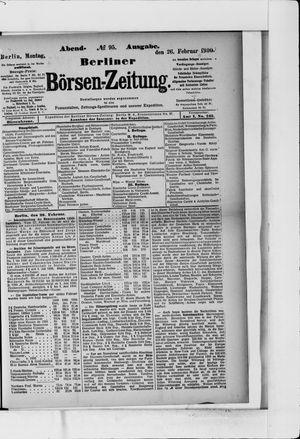 Berliner Börsen-Zeitung on Feb 26, 1900