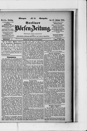 Berliner Börsen-Zeitung vom 27.02.1900
