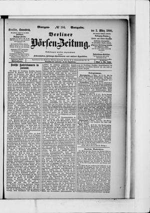 Berliner Börsen-Zeitung vom 03.03.1900