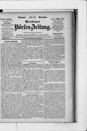 Berliner Börsen-Zeitung vom 09.03.1900