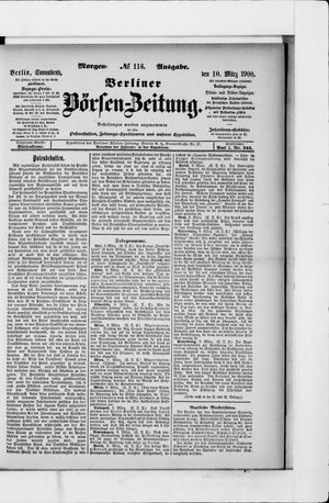 Berliner Börsen-Zeitung vom 10.03.1900