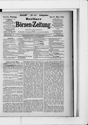 Berliner Börsen-Zeitung on Mar 27, 1900