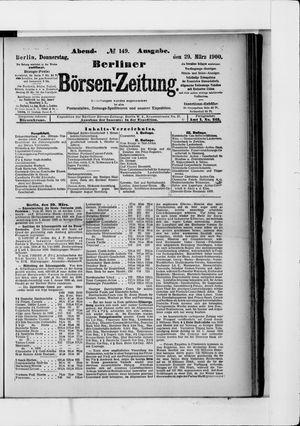 Berliner Börsen-Zeitung vom 29.03.1900