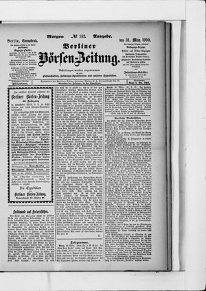 Berliner Börsen-Zeitung vom 31.03.1900