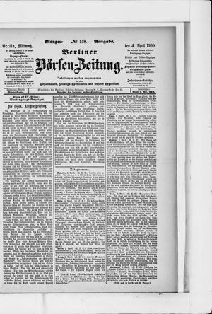 Berliner Börsen-Zeitung on Apr 4, 1900