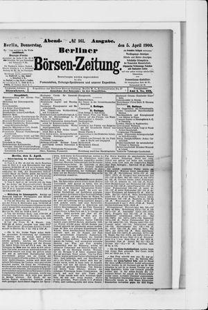 Berliner Börsen-Zeitung vom 05.04.1900