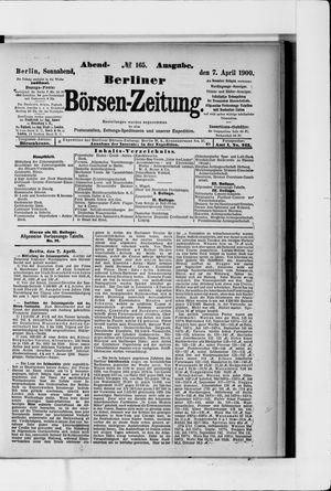 Berliner Börsen-Zeitung vom 07.04.1900