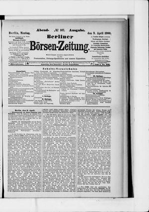 Berliner Börsen-Zeitung vom 09.04.1900