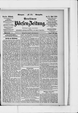 Berliner Börsen-Zeitung vom 11.04.1900