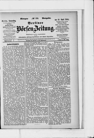 Berliner Börsen-Zeitung vom 19.04.1900