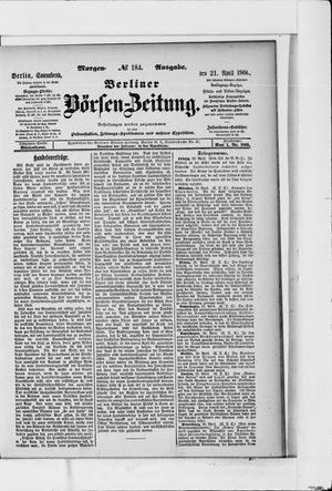 Berliner Börsen-Zeitung vom 21.04.1900