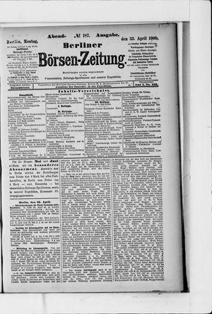 Berliner Börsen-Zeitung vom 23.04.1900