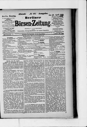 Berliner Börsen-Zeitung vom 24.04.1900