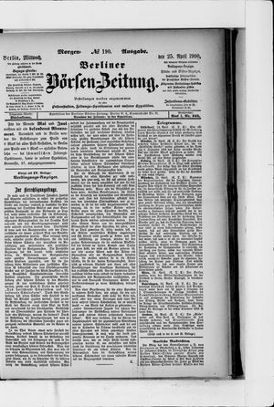 Berliner Börsen-Zeitung vom 25.04.1900