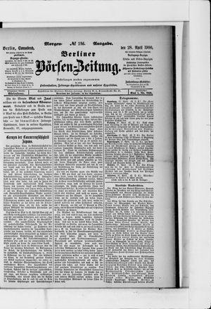Berliner Börsen-Zeitung vom 28.04.1900