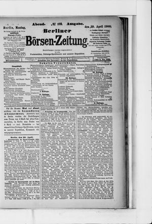 Berliner Börsen-Zeitung vom 30.04.1900