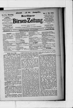 Berliner Börsen-Zeitung vom 01.05.1900