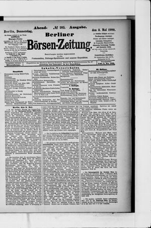 Berliner Börsen-Zeitung vom 03.05.1900