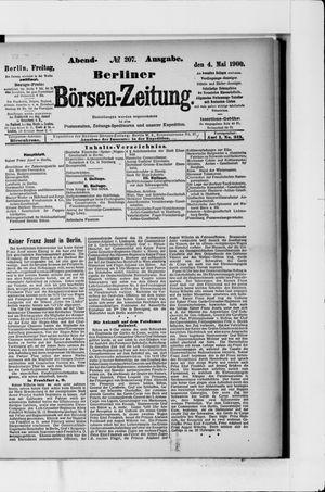 Berliner Börsen-Zeitung vom 04.05.1900