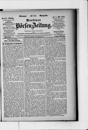 Berliner Börsen-Zeitung vom 06.05.1900