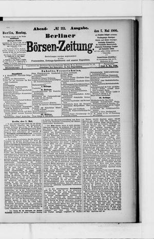 Berliner Börsen-Zeitung vom 07.05.1900