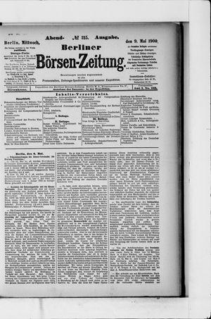 Berliner Börsen-Zeitung vom 09.05.1900