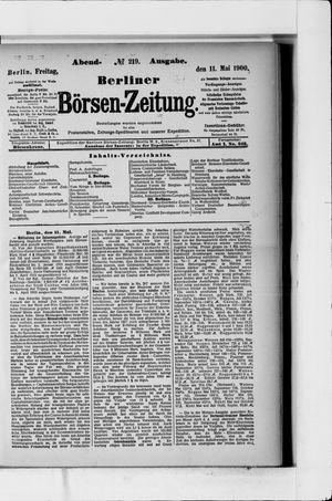Berliner Börsen-Zeitung vom 11.05.1900