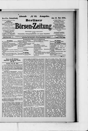 Berliner Börsen-Zeitung vom 12.05.1900