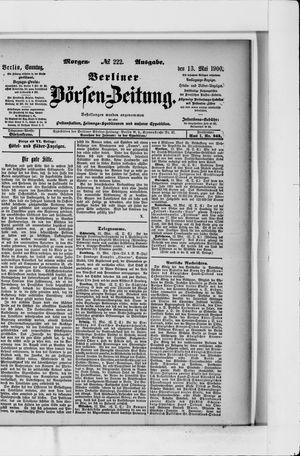 Berliner Börsen-Zeitung vom 13.05.1900