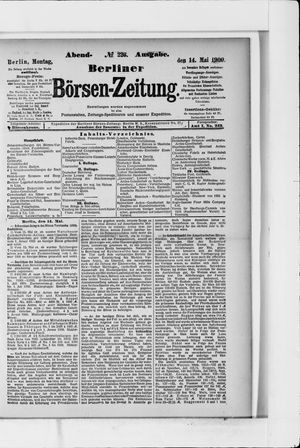 Berliner Börsen-Zeitung vom 14.05.1900
