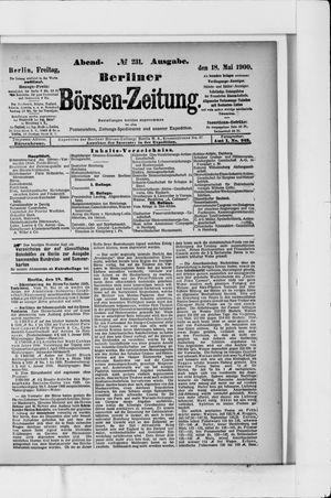 Berliner Börsen-Zeitung vom 18.05.1900