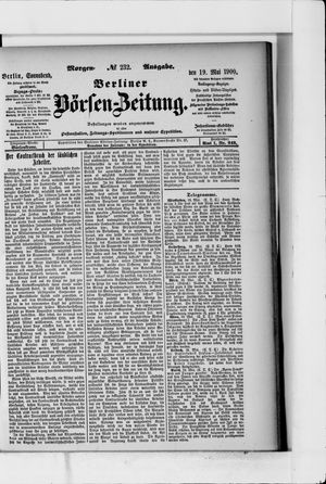 Berliner Börsen-Zeitung vom 19.05.1900