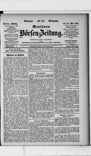 Berliner Börsen-Zeitung vom 20.05.1900