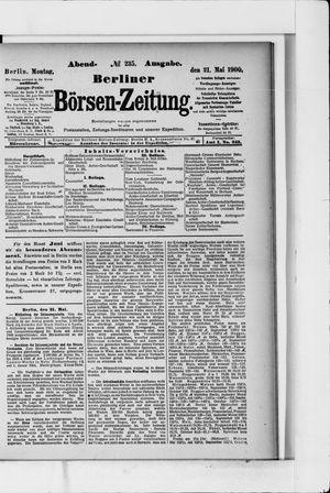 Berliner Börsen-Zeitung vom 21.05.1900