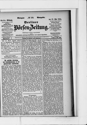 Berliner Börsen-Zeitung vom 23.05.1900