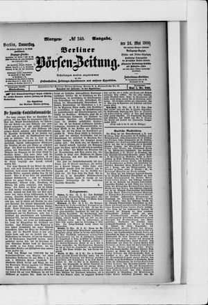 Berliner Börsen-Zeitung vom 24.05.1900