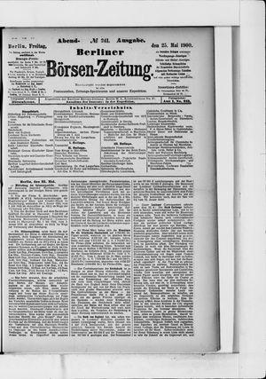 Berliner Börsen-Zeitung on May 25, 1900