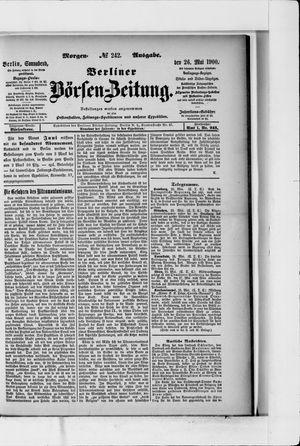 Berliner Börsen-Zeitung vom 26.05.1900