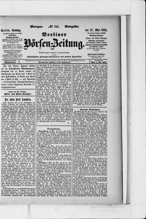 Berliner Börsen-Zeitung vom 27.05.1900