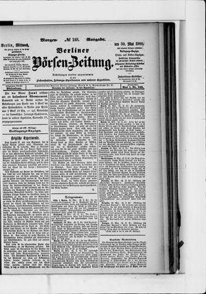 Berliner Börsen-Zeitung vom 30.05.1900