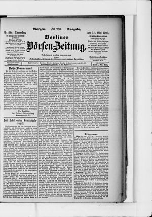 Berliner Börsen-Zeitung vom 31.05.1900
