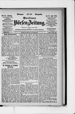 Berliner Börsen-Zeitung vom 10.06.1900