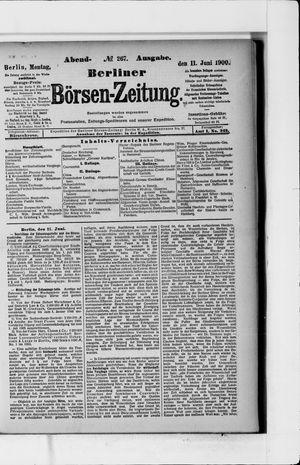Berliner Börsen-Zeitung vom 11.06.1900