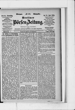 Berliner Börsen-Zeitung vom 14.06.1900