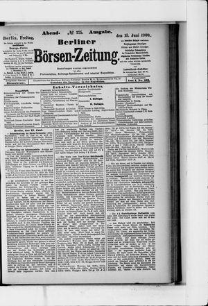 Berliner Börsen-Zeitung vom 15.06.1900