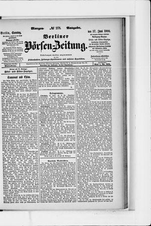 Berliner Börsen-Zeitung vom 17.06.1900
