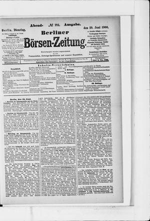 Berliner Börsen-Zeitung vom 19.06.1900