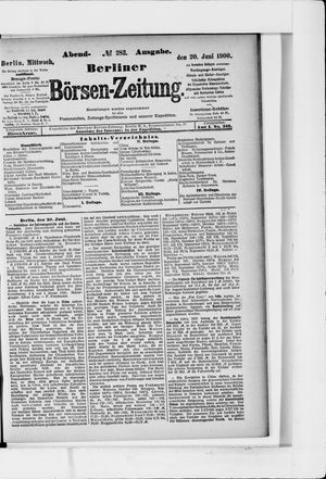 Berliner Börsen-Zeitung vom 20.06.1900