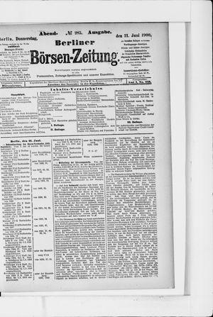 Berliner Börsen-Zeitung vom 21.06.1900